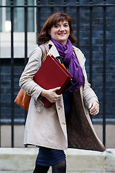 © Licensed to London News Pictures. 04/11/2014. LONDON, UK. Education Secretary Nicky Morgan attending to a cabinet meeting in Downing Street on Tuesday 4 November 2014. Photo credit: Tolga Akmen/LNP
