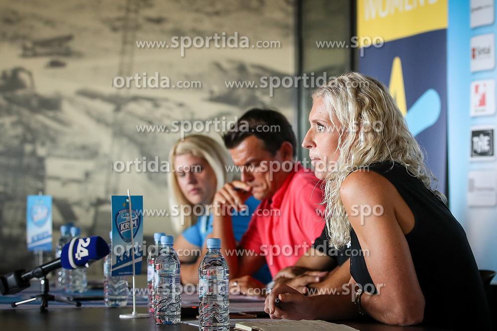Deja Doler at press conference of RK Krim before new season 2017/18, on August 16, 2017 in SRC Stozice, Ljubljana, Slovenia. Photo by Matic Klansek Velej / Sportida