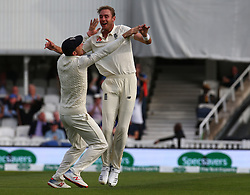 September 10, 2018 - London, Greater London, United Kingdom - England's Stuart Broad  celebrates LBW on Virat Kohli of India.during International Specsavers Test Series 5th Test match Day Four  between England and India at Kia Oval  Ground, London, England on 10 Sept 2018. (Credit Image: © Action Foto Sport/NurPhoto/ZUMA Press)