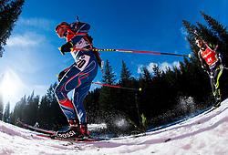 SLESINGR Michal (CZE) and FOURCADE Simon (FRA) competes during Men 12,5 km Pursuit at day 3 of IBU Biathlon World Cup 2014/2015 Pokljuka, on December 20, 2014 in Rudno polje, Pokljuka, Slovenia. Photo by Vid Ponikvar / Sportida