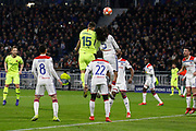Clement Lenglet of Barcelona and Denayer Jason of Lyon during the UEFA Champions League, round of 16, 1st leg football match between Olympique Lyonnais and FC Barcelona on February 19, 2019 at Groupama stadium in Decines-Charpieu near Lyon, France - Photo Romain Biard / Isports / ProSportsImages / DPPI