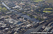 aerial photograph of River Clyde Bridges  Glasgow Scotland