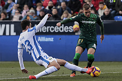 February 10, 2019 - Madrid, Madrid, Spain - CD Leganes's Mikel Vesga and Real Betis Balompie's Giovani Lo Celso during La Liga match between CD Leganes and Real Betis Balompie at Butarque Stadium in Madrid, Spain. February 10, 2019. (Credit Image: © A. Ware/NurPhoto via ZUMA Press)