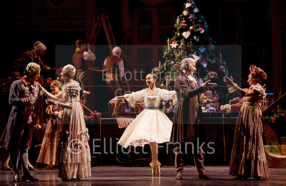 The Nutcracker<br /> <br /> Choreography by Peter Wright after Lev Ivanov<br /> Music by Tchaikovsky<br /> <br /> The Royal Ballet at the Royal Opera House, Covent Garden, London, Great Britain <br /> <br /> Pre-General Rehearsal <br /> <br /> 7 December 2015 <br /> <br /> <br /> Francesca Hayward as Clara  <br /> <br /> <br /> Photograph by Elliott Franks <br /> Image licensed to Elliott Franks Photography Services