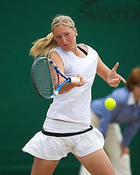 LONDON, ENGLAND - Tuesday, June 29, 2010: Denisa Allertova (CZE) during the Girls' Singles 2nd Round match on day eight of the Wimbledon Lawn Tennis Championships at the All England Lawn Tennis and Croquet Club. (Pic by David Rawcliffe/Propaganda)