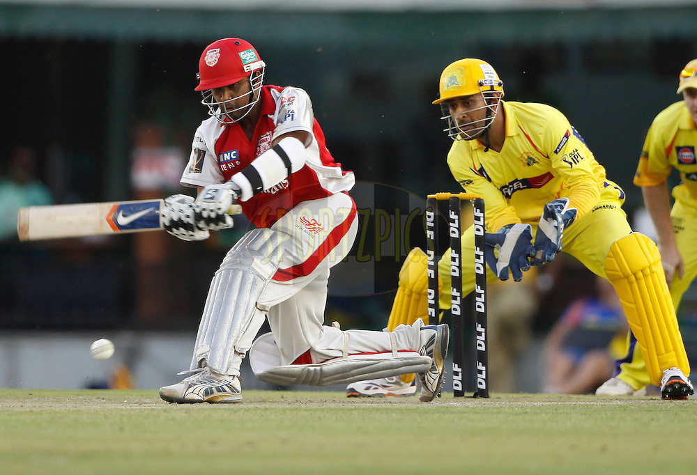 during match 9 of the Indian Premier League ( IPL ) Season 4 between the Kings XI Punjab and the Chennai Super Kings held at the PCA stadium in Mohali, Chandigarh, India on the 13th April 2011..Photo by Pankaj Nangia/BCCI/SPORTZPICS