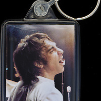 Keith Moon - Key Fob with image approx. 35mm x 50mm from 1970 Isle of Wight Music Festival exhibition on the front. The reverse has an exclusive CameronLife  1970 IW festival design