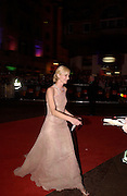 Joely Richardson, Arriving for the Baftas, Leicester Sq. 23  February 2003. © Copyright Photograph by Dafydd Jones 66 Stockwell Park Rd. London SW9 0DA Tel 020 7733 0108 www.dafjones.com