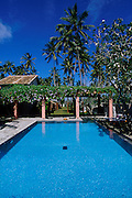 Swimming pool of Taru Villas, a boutique hotel at Bentota. West coast, 35 miles south of Colombo.