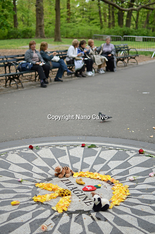 Strawberry Fields, an area in Central Park that pays tribute to the late Beatle, John Lennon