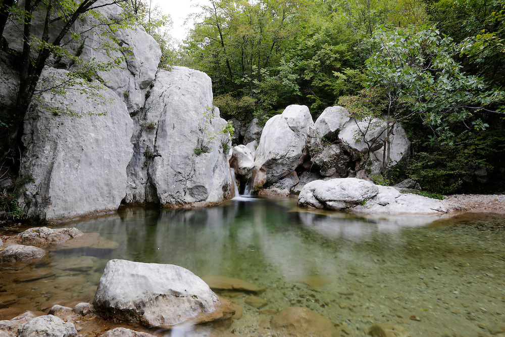 Stream at Paklenica National Park, Croatia.