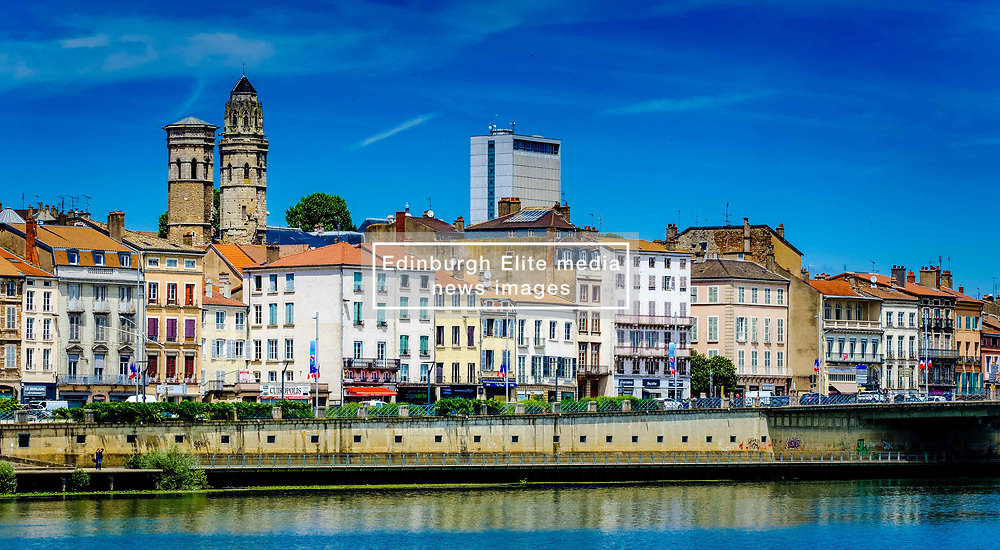 Mâcon on the banks of the Saone river in the Saone-et-Loire department of France, to the south of the Burgundy region.<br /> <br /> (c) Andrew Wilson | Edinburgh Elite media