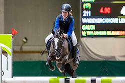 Vandekerckhoven Lentel, BEL, Gaudi<br /> Nationaal Indoor Kampioenschap Pony's LRV <br /> Oud Heverlee 2019<br /> © Hippo Foto - Dirk Caremans<br /> 09/03/2019
