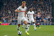 Tottenham Hotspur forward Harry Kane (10) attacking during the Champions League match between Tottenham Hotspur and Red Star Belgrade at Tottenham Hotspur Stadium, London, United Kingdom on 22 October 2019.