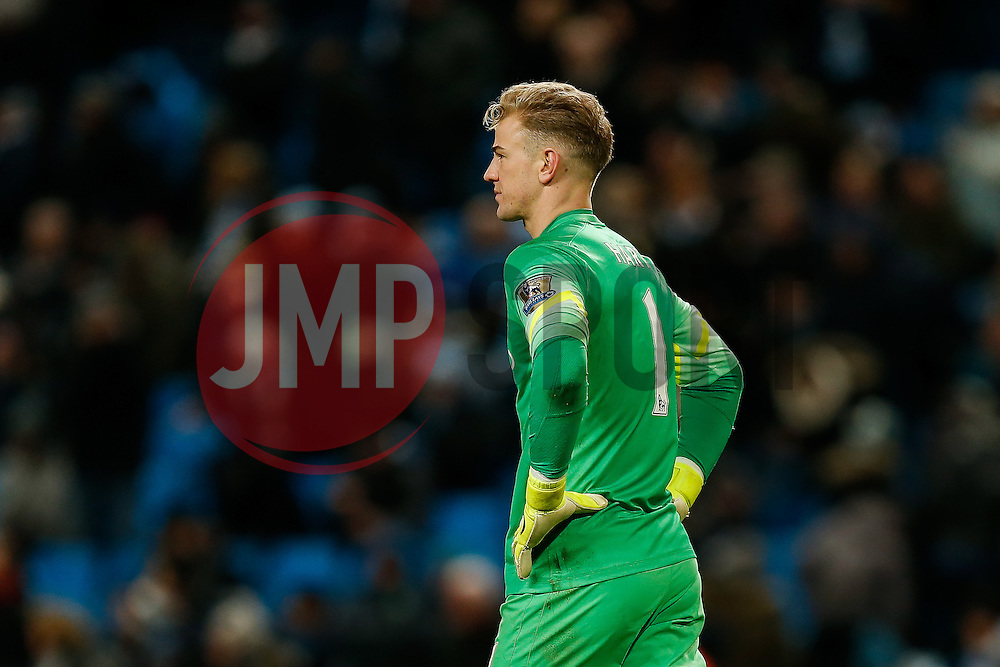 Joe Hart of Manchester City looks dejected after Arsenal win the match 0-2 - Photo mandatory by-line: Rogan Thomson/JMP - 07966 386802 - 18/01/2015 - SPORT - FOOTBALL - Manchester, England - Etihad Stadium - Manchester City v Arsenal - Barclays Premier League.