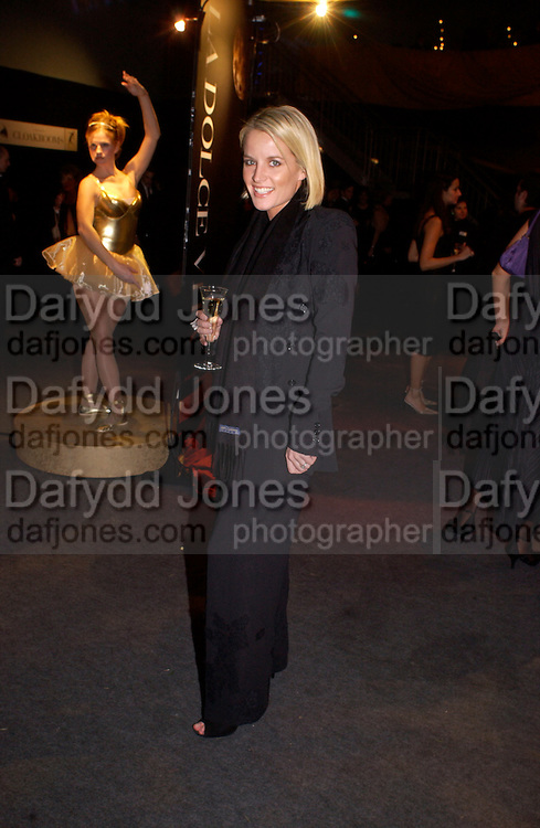 Davinia Taylor, ( now married )Dolce Vita party, Hon Artillery company,  London. 11 December 2003.  © Copyright Photograph by Dafydd Jones 66 Stockwell Park Rd. London SW9 0DA Tel 020 7733 0108 www.dafjones.com