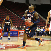 Rayvonte Rice #24 of the Illinois Fighting Illini drives to the basket during the NIT First Round game at Agganis Arena on March 19, 2014 in Boston, Massachusetts . (Photo by Elan Kawesch)