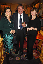 Left to right, CRISTINA ODONE and broadcaster EDWARD STOURTON and his wife FIONA STOURTON at a party to launch Crosley Diamonds at Annabels, Berkeley Square, London on 15th November 2007.<br /><br />NON EXCLUSIVE - WORLD RIGHTS