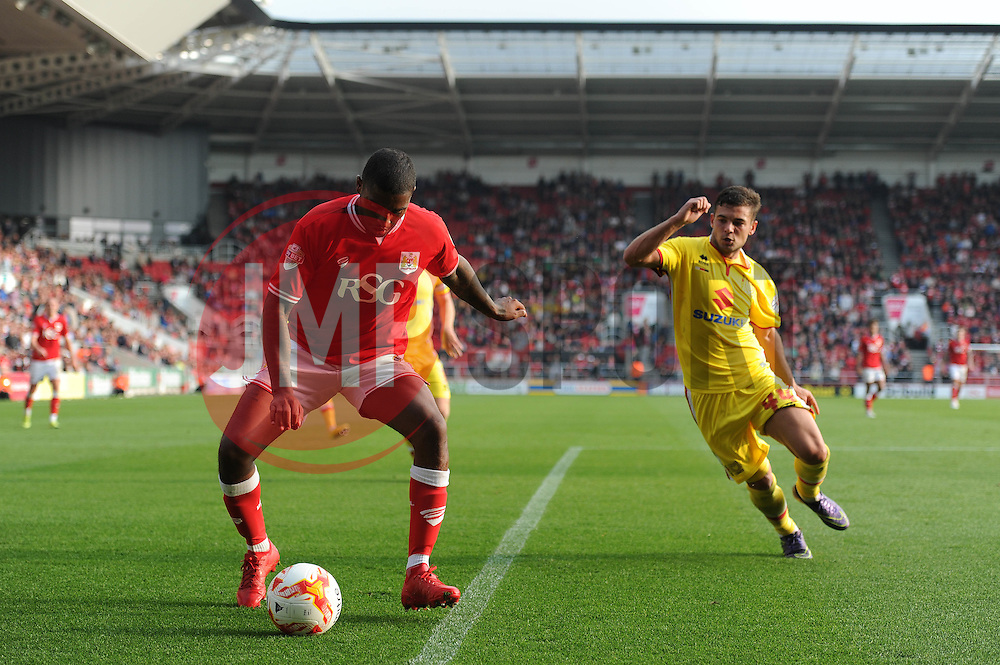 Mark Little of Bristol City - Mandatory byline: Dougie Allward/JMP - 07966 386802 - 03/10/2015 - FOOTBALL - Ashton Gate - Bristol, England - Bristol City v MK Dons - Sky Bet Championship