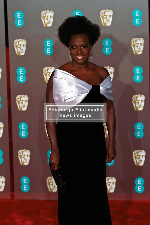 Viola Davies on the red carpet ahead of the 2019 British Academy Film Awards at the Royal Albert Hall in London, England on 10th Feburary 2019. ©Ben Booth/Edinburgh Elite media