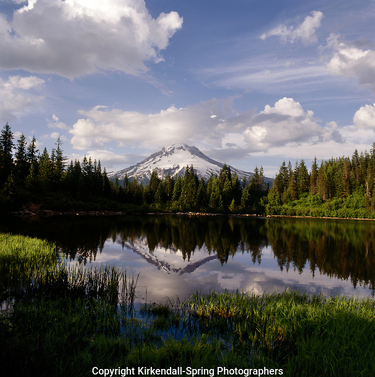 BB02057-02...OREGON - Mount Hood reflecting in Mirrow Lake in Mount Hood National Forest.