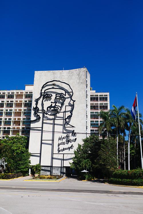 Che Guevara at the Plaza de la Revolución in Havana, Cuba