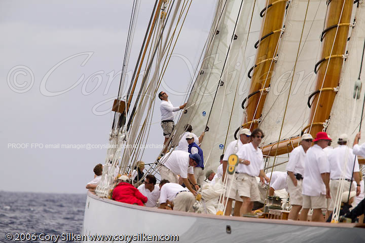 Eleonora at the Antigua Classic Yacht Regatta