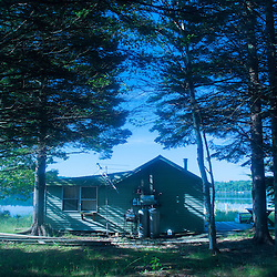 Cabin, Sheep Island, Castine, Maine, US