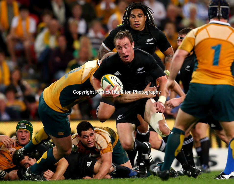 Jimmy Cowan.All Blacks v Australia Tri Nations Rugby Union Test Match. Suncorp Stadium ,Brisbane. Australia,Saturday 13 September 2008 .