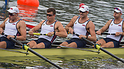 "Rio de Janeiro. BRAZIL.  USA M8+. right to left, Glenn OCHAL,  Stephen KASPRZYK,  Michael DI SANTO, Robert MUNN, Austin HACK,    2016 Olympic Rowing Regatta. Lagoa Stadium,<br /> Copacabana,  ""Olympic Summer Games""<br /> Rodrigo de Freitas Lagoon, Lagoa.   Monday  08/08/2016 <br /> <br /> [Mandatory Credit; Peter SPURRIER/Intersport Images]"