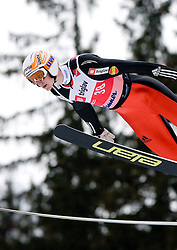 Mitja Meznar of Slovenia competes during Flying Hill Individual Qualifications at 1st day of FIS Ski Flying World Championships Planica 2010, on March 18, 2010, Planica, Slovenia.  (Photo by Vid Ponikvar / Sportida)