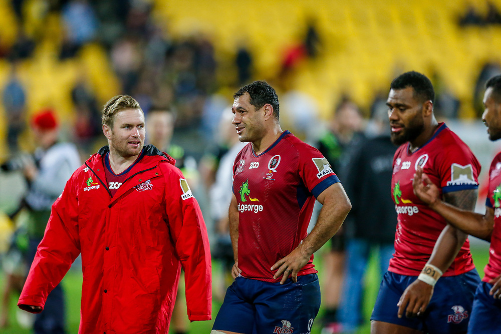 George Smith after the Super rugby union game (Round 14) played between Hurricanes v Reds, on 18 May 2018, at Westpac Stadium, Wellington, New  Zealand.    Hurricanes won 38-34.