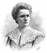 Marie Sklodowska Curie (1867-1934) Polish-born French physicist. Engraving published 1904