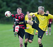 Powrie (red and black) v Fife Thistle (yellow) in the Dundee Saturday Morning Football League at Riverside, Dundee, <br /> <br />  - © David Young - www.davidyoungphoto.co.uk - email: davidyoungphoto@gmail.com