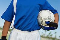 Soccer Goalie Holding Ball