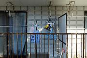 a balcony wash line in Japan