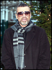 George Michael arrives back home after being in Hospital