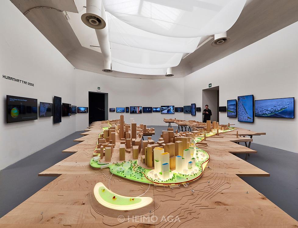 "FREESPACE - 16th Venice Architecture Biennale. BIG - Bjarke Ingels Group, ""HUMANHATTAN 2050""."