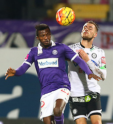 02.12.2015, Generali Arena, Wien, AUT, 1. FBL, FK Austria Wien vs SK Puntigamer Sturm Graz, 18. Runde, im Bild Vanche Shikov (FK Austria Wien) und Lukas Spendlhofer (SK Puntigamer Sturm Graz) // during Austrian Football Bundesliga Match, 18th Round, between FK Austria Vienna and SK Puntigamer Sturm Graz at the Generali Arena, Vienna, Austria on 2015/12/02. EXPA Pictures © 2015, PhotoCredit: EXPA/ Thomas Haumer