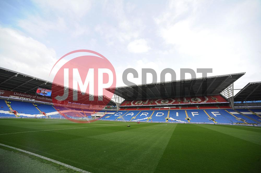 View inside the Cardiff City Stadium - Photo mandatory by-line: Alex James/JMP - Mobile: 07966 386802 30/08/2014 - SPORT - FOOTBALL - Cardiff - Cardiff City stadium - Cardiff City  v Norwich City - Barclays Premier League