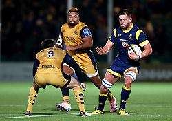 Matt Cox of Worcester Warriors runs with the ball - Mandatory by-line: Robbie Stephenson/JMP - 04/11/2016 - RUGBY - Sixways Stadium - Worcester, England - Worcester Warriors v Bristol Rugby - Anglo Welsh Cup