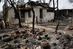 May 24, 2019, Mevo Modi'im, Israel: A damaged house following a fire amidst an extreme heat wave in the village of Mevo Modi'im, Israel. The Israeli government said it is asking for international aid to fight dozens of huge fires that broke out on Thursday because of extremely hot weather of more than 40 degrees Celsius. (Credit Image: © Gil Cohen Magen/Xinhua via ZUMA Wire)