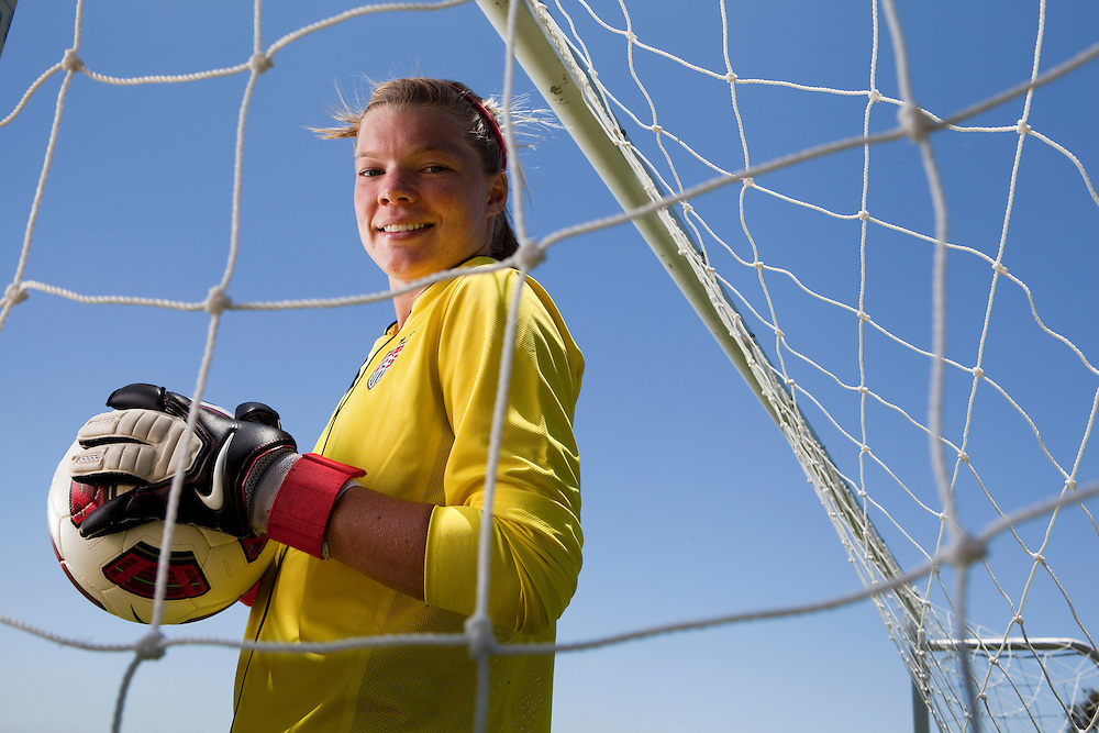 Jane Campbell, goalkeeper on the National Under 17 soccer team.