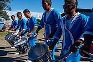 Desfile de bandas en el día de Chiriquí Grande, provincia Bocas del Toro, Panamá.
