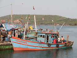 Fishing boat at Chapora port, Goa