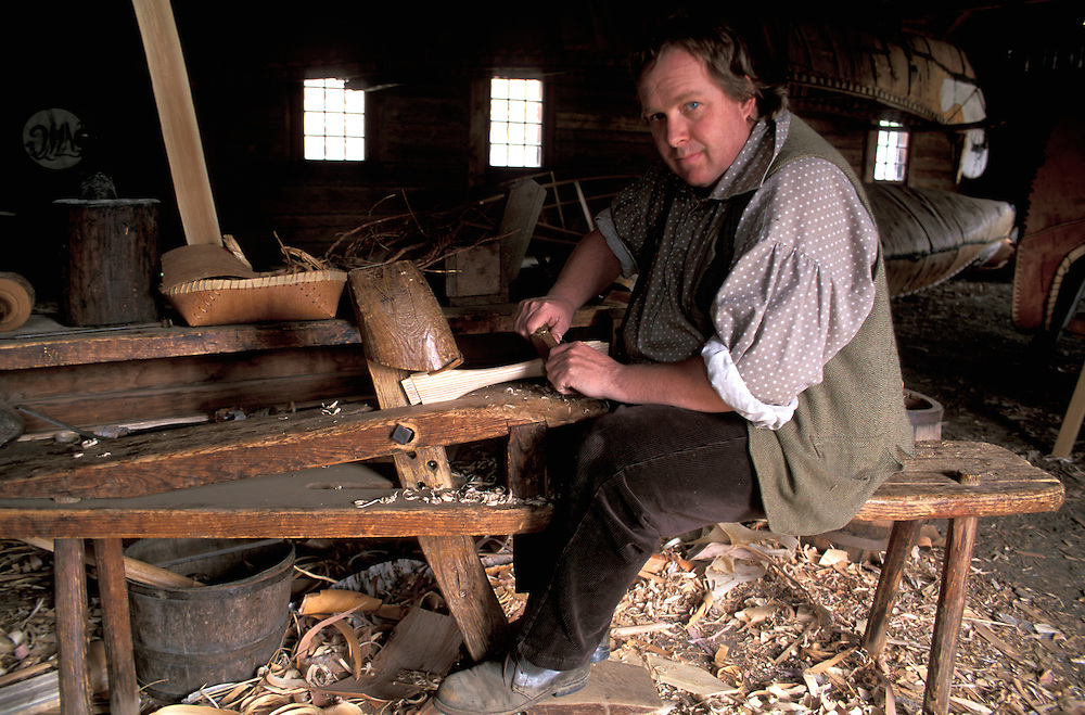 David Brown, Canoe Maker, Old Fort William, Thunder Bay, Ontario, Canada