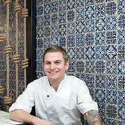 April 11, 2015 - New York, NY : Chef Brad Willits poses for a portrait in the dining room of George Mendes's soon-to-open Portuguese restaurant Lupulo, at 835 6th Ave. in Manhattan, on Saturday afternoon.  CREDIT: Karsten Moran for The New York Times
