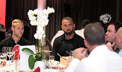 Aaron Wilbraham and Gustav Engvall of Bristol City mingle with guests during the Lansdown Club event  - Mandatory by-line: Robbie Stephenson/JMP - 06/09/2016 - GENERAL SPORT - Ashton Gate - Bristol, England - Lansdown Club -