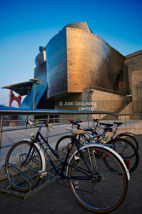 Bikes near Guggenheim Museum, Bilbao