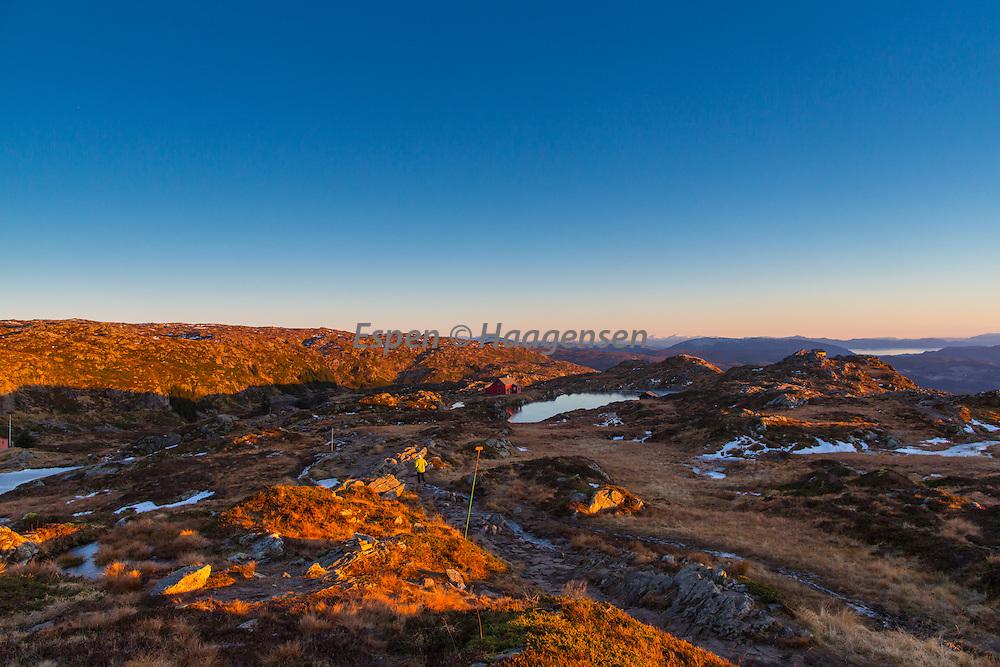 Fall blue hour at Ulriken